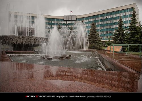 Фотограф Доронченко Андрей, Новокузнецк: Фонтан у администрации Центрального Района города Новокузнецка.